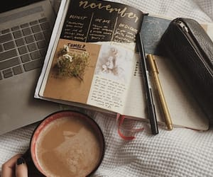 aesthetic, coffee, and journal image