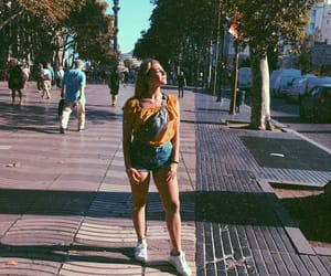 Barcelona, blonde girl, and spain image