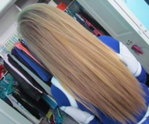 long, blonde, and hair image