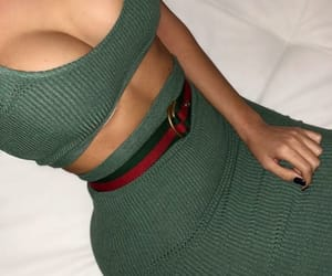 green and crop top image