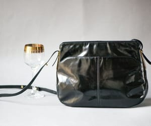 etsy, patent leather bag, and black clutch purse image