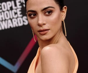 gorgeous, makeup, and orange dress image
