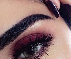 artist, makeup, and burgundy image