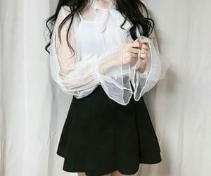 fashion, black, and korean image