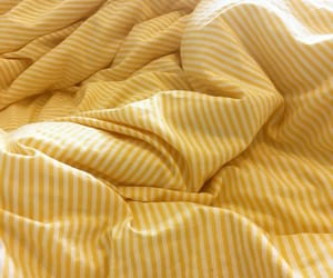 yellow, aesthetic, and bed image
