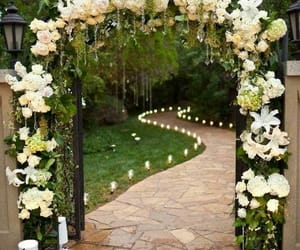 wedding, flowers, and decoration image