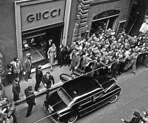 gucci, black and white, and vintage image