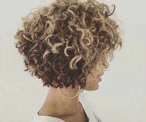 bleach, curly, and hair image