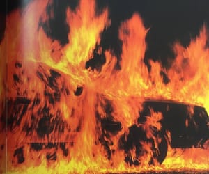 black and fire image