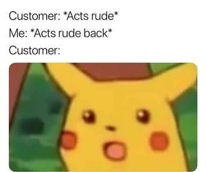 meme, funny, and pikachu image