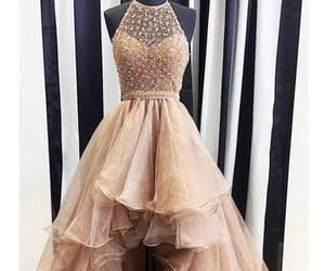 long prom dresses, prom dresses for cheap, and champagne prom dresses image