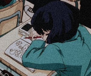 anime, aesthetic, and school image
