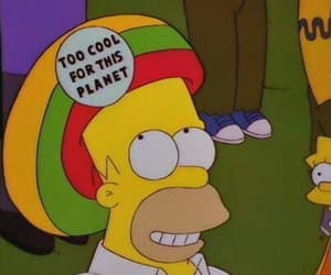 cool, the simpsons, and homer image