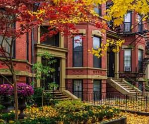 autumn colors, boston, and cityscape image