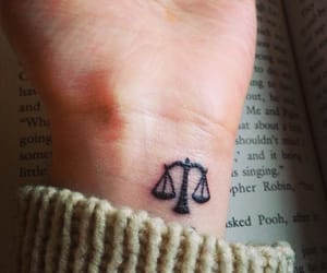 Libra and tattoo image
