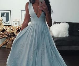 prom dress, light blue prom dress, and prom dress blue image