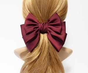 etsy, big bow barrette, and silk satin hair bow image