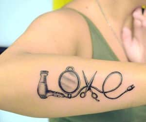 cool girl, photography, and tattoo image