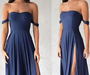 prom dress blue, chiffon prom dress, and navy blue prom dress image