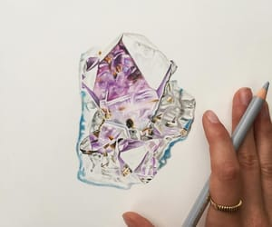 art, beautiful, and crystal image