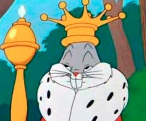 king, bugs bunny, and cartoon image