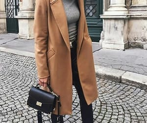 brown, coat, and mode image