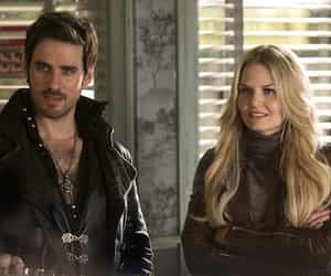 hook, emma swan, and ️ouat image