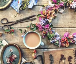 flowers, peace, and tea image
