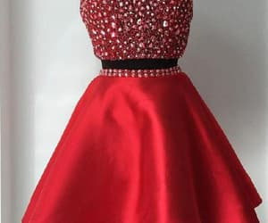 homecoming dress, red homecoming dress, and a-line homecoming dress image