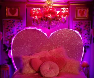 bed, heart, and home image