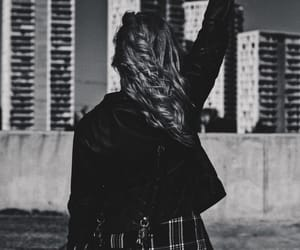 black and white, girl, and lifestyle image