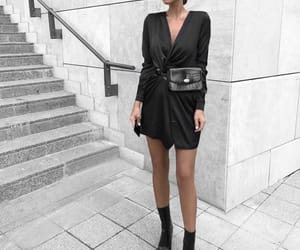 black, croc, and outfit image
