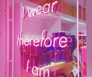 neon, pink, and words image