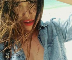 beach, yucatan, and brunette image