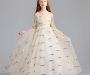 embroidered, little girl dress, and 2019 image