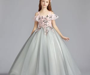 tulle dress, grey dress, and little girl dresses image