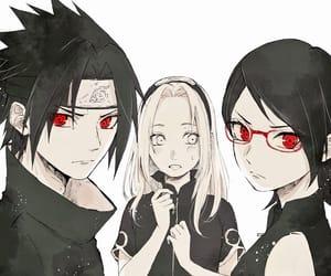 sakura, sasuke, and sarada image