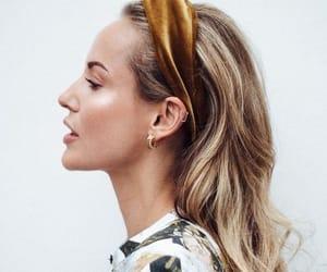 blonde, Haistyle, and headband image