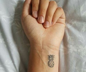tattoo, pineapple, and wrist image
