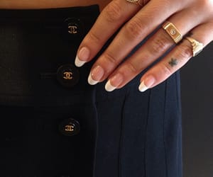 nails, chanel, and gold image
