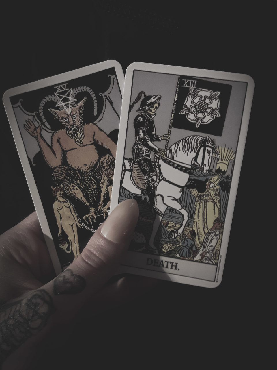 cards, dark, and death image