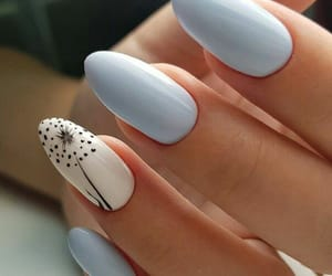 nails, girl, and blue image