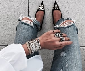 denim, shoes, and style image