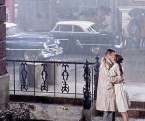 audrey hepburn, Breakfast at Tiffany's, and couple image
