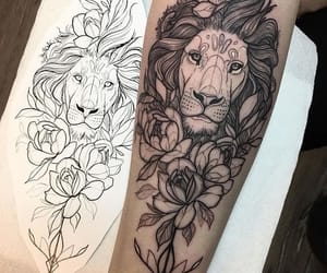 black and white, cool, and tattoo image
