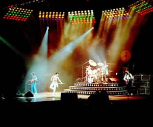 classic rock, Freddie Mercury, and concert image