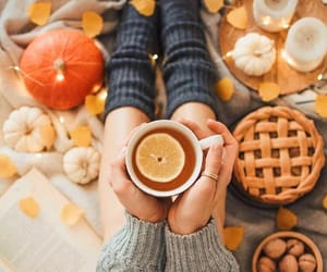 autumn, cozy, and drink image