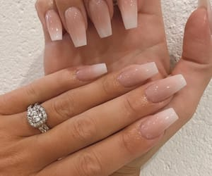 nails, ring, and beauty image