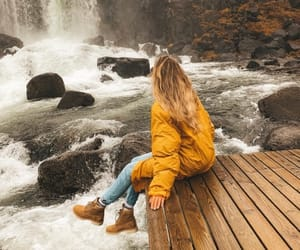 autumn, girl, and travel image
