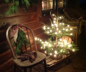 christmas, lights, and porch image